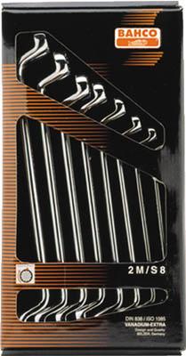 【バーコ】バーコ ディープ・オフセット両口メガネ8本セット 2MS8[バーコ レンチ作業用品レンチ・スパナ・プーラーめがねレンチ]【TN】【TC】 P01Jul16