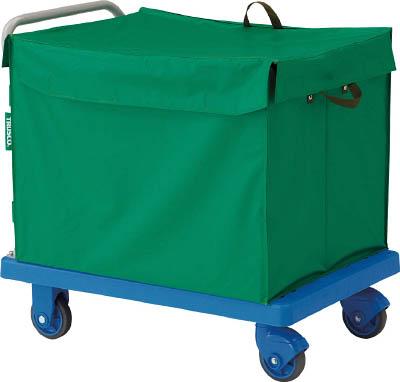 TRUSCO グランカート サイレント 蓋付ハンドトラックボックス付 900X6 TPX902THBTRUSCO HO運搬車物流保管用品運搬台車樹脂製運搬車【TN】【TC】