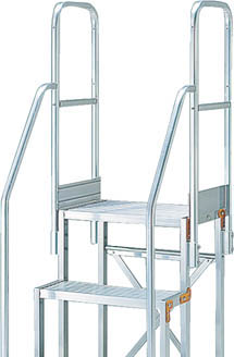 TRUSCO 作業用踏台用手すり H900 階段両手すり TSF-256・266 TSFTE17TRUSCO 脚立           工事用品はしご・脚立作業用踏台【TN】【TC】