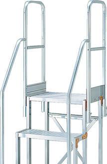 TRUSCO 作業用踏台用手すり H1100 階段両手すり TSF-369・46 TSFTE411HTRUSCO 脚立           工事用品はしご・脚立作業用踏台【TN】【TC】