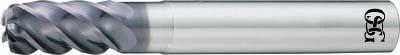 OSG  FXコート 5刃 チタン合金加工用不等リードエンドミル UVX‐TI‐ UVXTI5FL16XR1.5X48OSG エンドミル切削工具旋削・フライス加工工具超硬ラジアスエンドミル【TN】【TC】