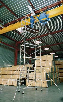 【取寄品】【アルインコ】アルインコ 移動式アルミ作業台 5.15m 最大使用質量150kg WTF1234[アルインコ 梯子工事用品はしご・脚立高所作業台]【TN】【TC】