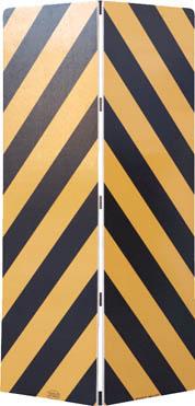 【ワコー】ワコー セーフティーガード黄色・黒色448mm×1440mm WSG144[ワコー パレット環境安全用品安全用品安全クッション]【TN】【TC】