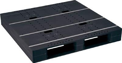 【取寄品】【NPC】NPC プラスチックパレットZD-1111E-RR 片面二方差し 黒 ZD1111ERRBK[NPC パレット物流保管用品コンテナ・パレットパレット]【TN】【TD】