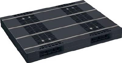 【取寄品】【NPC】NPC プラスチックパレットZR-110140E-RR 両面二方差し 黒 ZR110140ERRBK[NPC パレット物流保管用品コンテナ・パレットパレット]【TN】【TD】