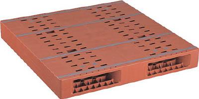 【取寄品】【NPC】NPC プラスチックパレットZR-1111E 両面二方差し ブラウン ZR1111EBR[NPC パレット物流保管用品コンテナ・パレットパレット]【TN】【TD】