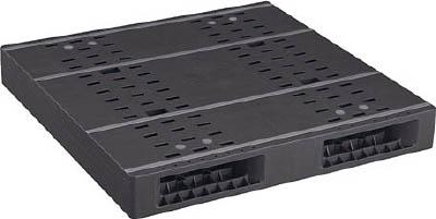 【取寄品】【NPC】NPC プラスチックパレットZR-1111E-RR 両面二方差し 黒 ZR1111ERRBK[NPC パレット物流保管用品コンテナ・パレットパレット]【TN】【TD】