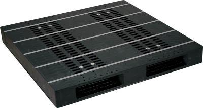【取寄品】【NPC】NPC プラスチックパレットZR-1313E-RR 両面二方差し 黒 ZR1313ERRBK[NPC パレット物流保管用品コンテナ・パレットパレット]【TN】【TD】