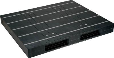 【取寄品】【NPC】NPC プラスチックパレットZR-1315E-RR 両面二方差し 黒 ZR1315ERRBK[NPC パレット物流保管用品コンテナ・パレットパレット]【TN】【TD】