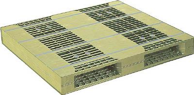 【取寄品】【NPC】NPC プラスチックパレットZR-110120E 両面二方差し ライトグリーン ZR110120ELG[NPC パレット物流保管用品コンテナ・パレットパレット]【TN】【TD】