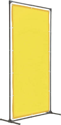 【TRUSCO】TRUSCO 溶接遮光フェンス 1015型単体 固定足 黄 YF1015KY[TRUSCO 溶接シート工事用品溶接用品溶接遮光フェンス]【TN】【TC】