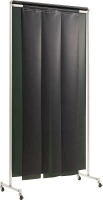 【吉野】吉野 クグレール 遮光用衝立のれん型1×2 キャスター付ダークグリーン YS12SCKGDG[吉野 溶接シート工事用品溶接用品溶接遮光フェンス]【TN】【TD】