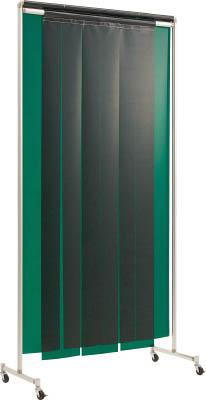 【吉野】吉野 クグレール 遮光用衝立のれん型1×2 キャスター付グリーン YS12SCKGG[吉野 溶接シート工事用品溶接用品溶接遮光フェンス]【TN】【TD】