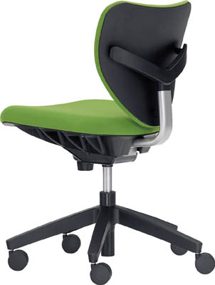 【取寄品】【ウチダ】ウチダ 「エポチェア」 ローバック 肘なし 布 グリーン 53401016[ウチダ 椅子オフィス住設用品オフィス家具オフィスチェア]【TN】【TC】 P01Jul16