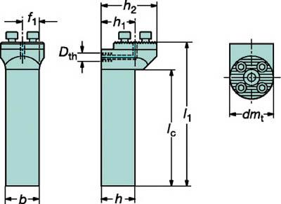 【サンドビック】サンドビック コロターンSL シャンクアダプタ 57032NG2525[サンドビック ホルダー切削工具旋削・フライス加工工具ホルダー]【TN】【TC】 P01Jul16