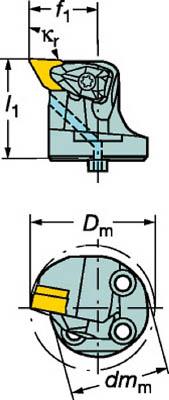 【サンドビック】サンドビック コロターンSL コロターンRC用カッティングヘッド 570DDUNL4015[サンドビック ホルダー切削工具旋削・フライス加工工具ホルダー]【TN】【TC】 P01Jul16
