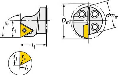 【サンドビック】サンドビック コロターンSL コロターン111用カッティングヘッド 570STFPR2511[サンドビック ホルダー切削工具旋削・フライス加工工具ホルダー]【TN】【TC】 P01Jul16