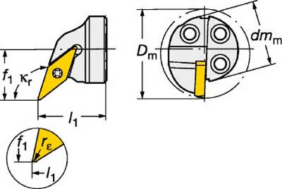 【サンドビック】サンドビック コロターンSL コロターン107用カッティングヘッド 570SVQCR2011E[サンドビック ホルダー切削工具旋削・フライス加工工具ホルダー]【TN】【TC】 P01Jul16