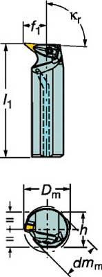 【サンドビック】サンドビック コロターンRC ネガチップ用ボーリングバイト A40TDVUNL16[サンドビック ホルダー切削工具旋削・フライス加工工具ホルダー]【TN】【TC】 P01Jul16