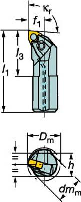 【サンドビック】サンドビック T-Max P ネガチップ用ボーリングバイト A25TMWLNL08[サンドビック ホルダー切削工具旋削・フライス加工工具ホルダー]【TN】【TC】 P01Jul16