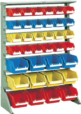 【TRUSCO】TRUSCO 片面タイプ重量コンテナラック高さ1265小棚4大棚3 U1234【保管管理用品/コンテナラック/図面トラスコ中山/コンテナラック/コンテナラック(片面タイプ)/トラスコ】【TC】【TN】