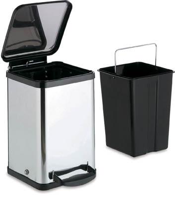 【テラモト】テラモト ペダルボックス角型14L DS2386140【清掃用品/ゴミ箱】【TC】【TN】