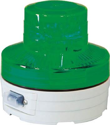 【日動】日動 電池式LED回転灯 ニコUFO 夜間自動点灯タイプ 緑 NUBG【安全用品/保安用品】【TC】【TN】
