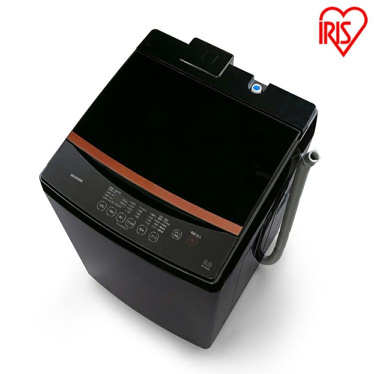 全自動洗濯機 8.0kg ブラック IAW-T803BL送料無料 全自動洗濯機 洗濯機 洗たく 洗濯 せんたっき 部屋干し タイマー 衣類 ランドリー 白物家電 生活家電 新生活 スタイリッシュ アイリスオーヤマ