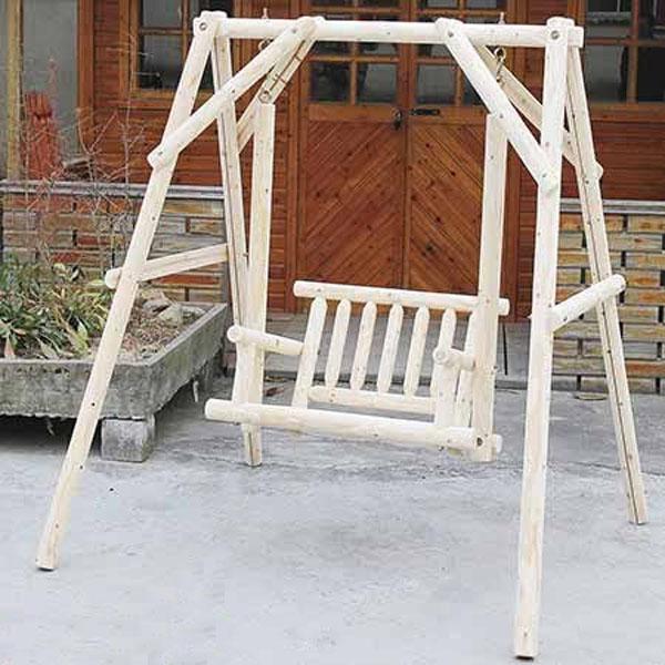 Charmant Wood Swing Chair (single) FE3005 [wooden Garden Article / Garden / Chair /]  P19Jul15