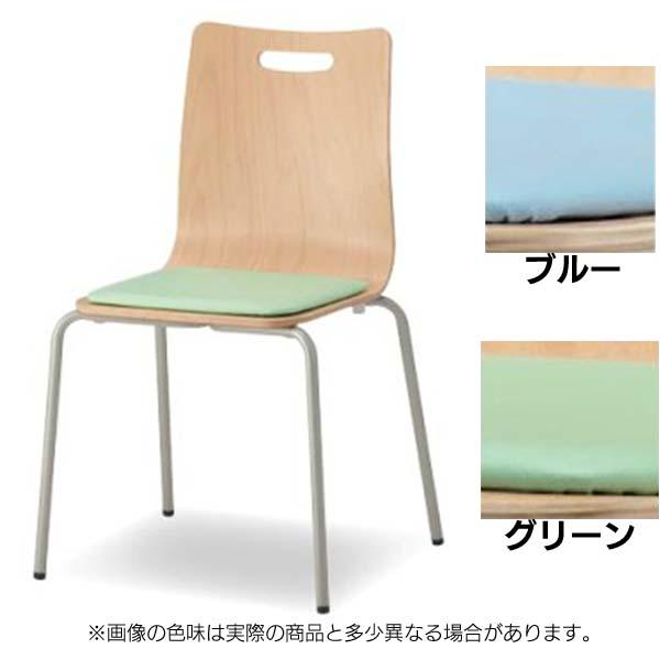【送料無料】オフィスチェア ウッドエルチェア CWLC-F02-V 4つ脚 パッド付 ブルー・グリーン 【TD】【CTS】【オフィスチェアー ミーティングチェア 椅子 会議室 イス スタッキング】 P19Jul15