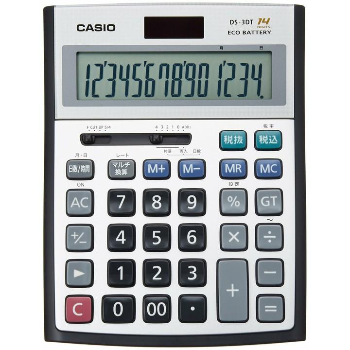 【送料無料】【電卓 14桁】デスク型電卓【オフィス 会社】カシオ DS-3DT【D】【HD】