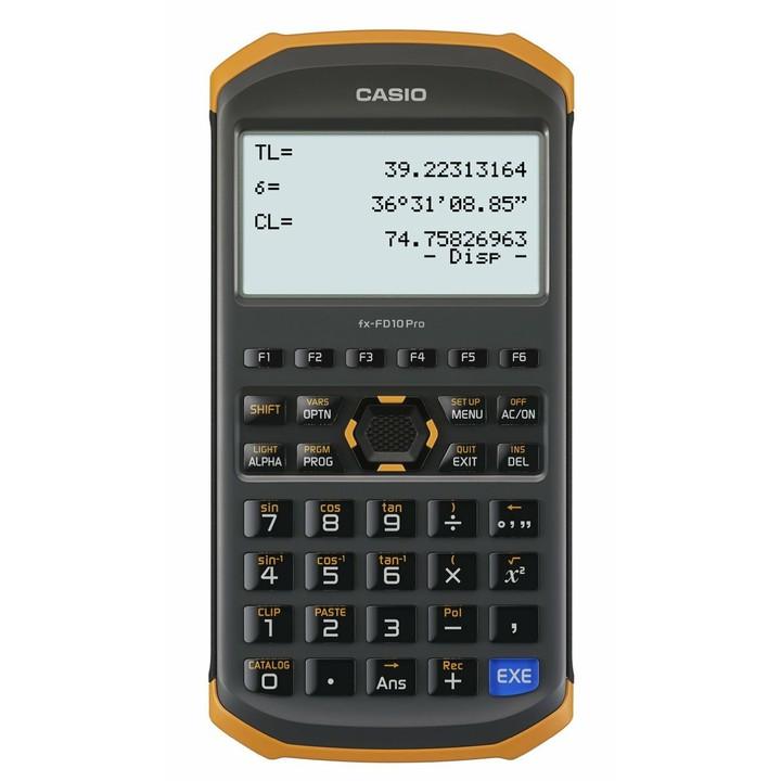 【送料無料】【電卓】土木測量専業電卓【防水 防塵】カシオ FX-FD10PRO【D】【HD】
