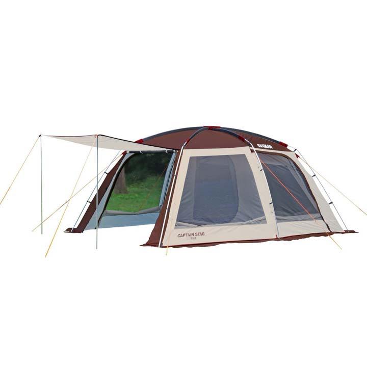 【テント キャンプ】エクスギアスクリーンツールームドーム【タープ ツールーム 2ルーム ドーム キャプテンスタッグ】パール金属 UA-0021【D】