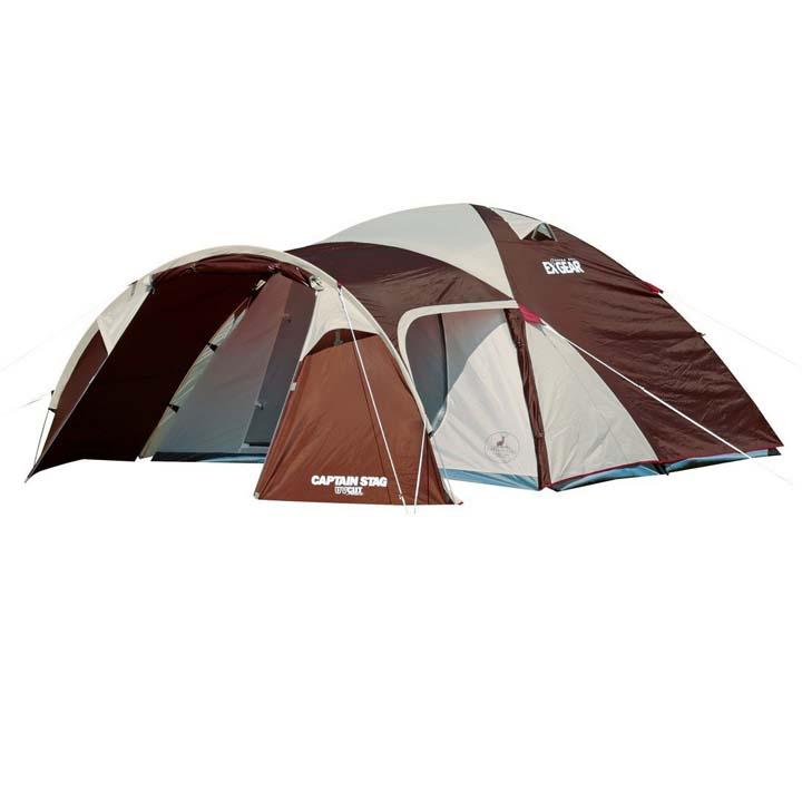 【テント キャンプ】エクスギア2ルームドーム270【ドームテント ツールーム 2ルーム ドーム キャプテンスタッグ】パール金属 UA-0018【D】