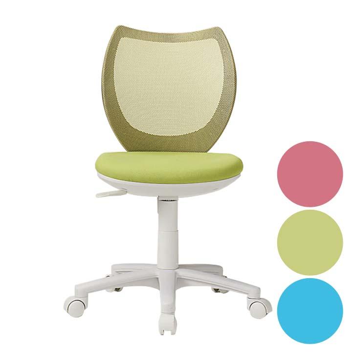 オフィスチェア メッシュ メッシュオフィスチェア オフィスチェアメッシュ オフィスチェアいす ピンク・ライムグリーン・ライトブルー【TD】 デスクチェア いす 回転イス 事務椅子 PFLO-43M0-F送料無料 フローラル デスクチェアメッシュ パソコンチェア