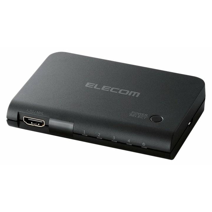 HDMI切替器 DH-SWP41BK送料無料 HDMI切替器 ハイビジョンテレビ テレビ出力 HDMI エレコム 【D】