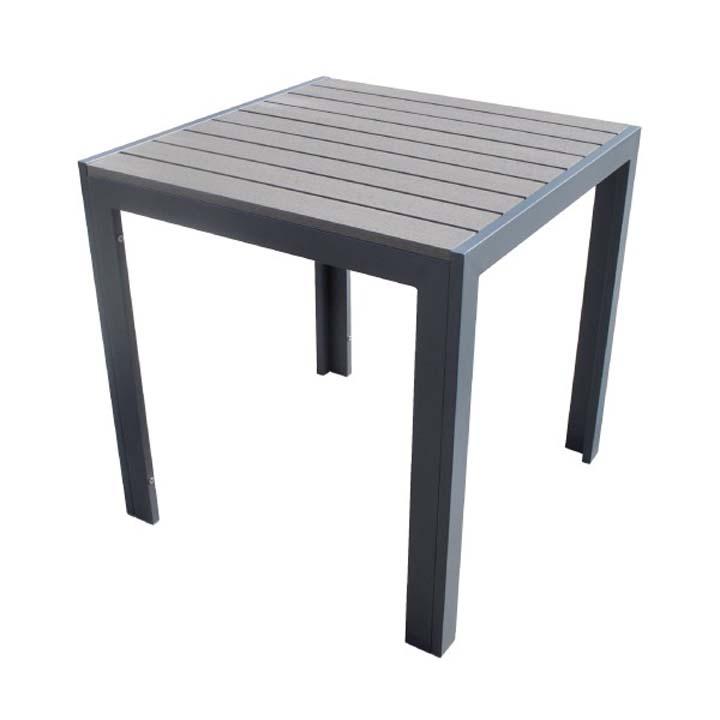 人工木テーブル正方形 ダークブラウン 送料無料 ガーデンファニチャー ガーデン ガーデニング エクステリア 旭興進 【TD】 【代引不可】
