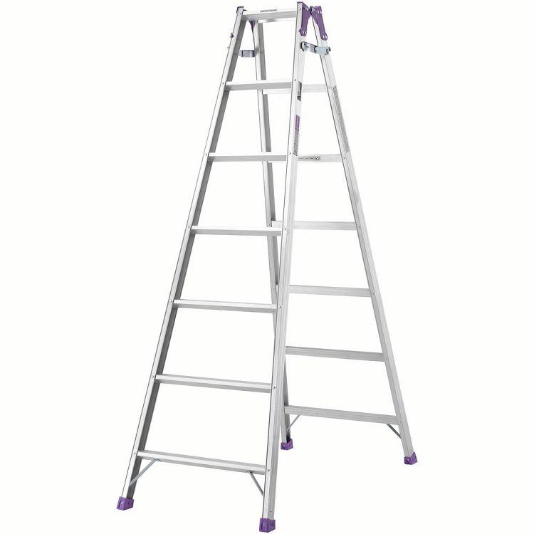 ステップ幅広脚立7尺 MR210W送料無料 脚立 幅広 幅広ステップ はしご 梯子 アルミ DIY 工具 アルインコ 【D】【代引不可】【同梱不可】【日時指定不可】【時間指定不可】