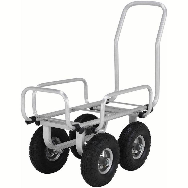 伸縮ハウスカー SKK051PA送料無料 キャリー 台車 伸縮 エアータイヤ アルミ DIY 工具 アルインコ 【D】