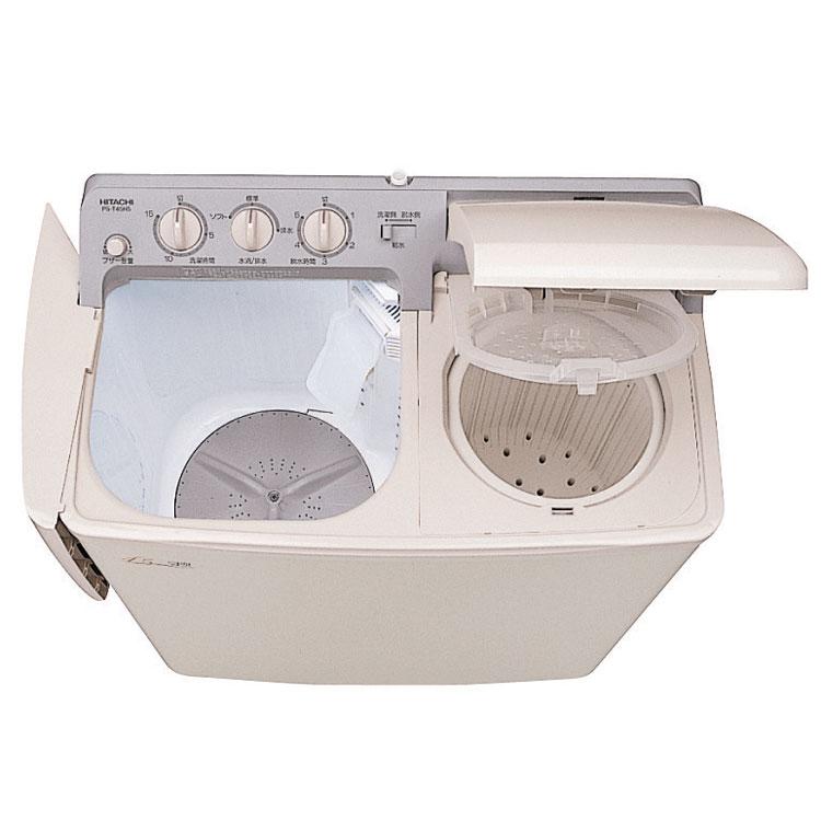 2槽式洗濯機4.5kg PS-H45L-CP送料無料 洗濯機 4.5kg 2槽式洗濯機 プラスチック脱水槽 お知らせブザー 大型脱水槽 一人暮らし 糸くず捕集 日立【D】【時間指定不可】