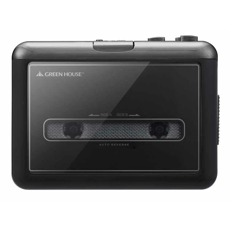 カセットテープ変換プレーヤーmicroSDタイプ ブラック GH-CTPB-BK送料無料 カセットテープ デジタル化 プレーヤー 変換 SDカード グリーンハウス 【TC】【B】