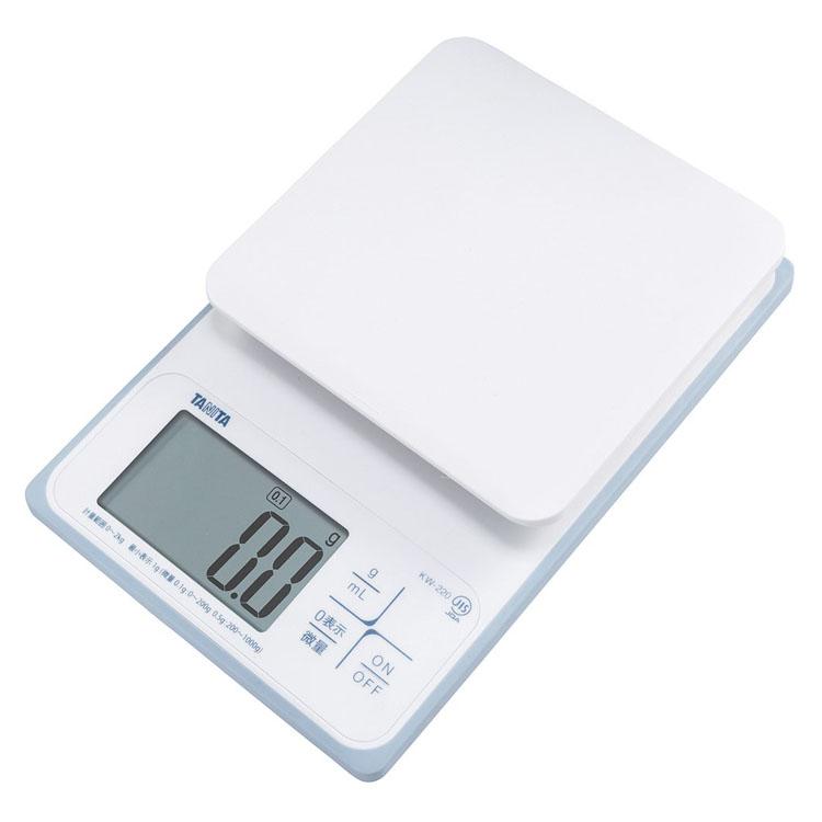 デジタルクッキングスケール ホワイト KW-220-WHはかり デジタル 防水 キッチンスケール 2kg TANITA 料理 製菓 パン TANITA 【D】