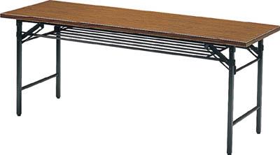 [TRUSCO]TRUSCO 折リタタミ会議テーブル 1800X450XH700 チーク 1845[オフィス住設用品 オフィス家具 会議用テーブル トラスコ中山(株)]【TC】【TN】