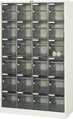 【取寄品】[TRUSCO]TRUSCO シューズケース 24人用 1050X380XH1700 棚付 透明 SC24WPC[オフィス住設用品 オフィス家具 シューズボックス トラスコ中山(株)]【TC】【TN】