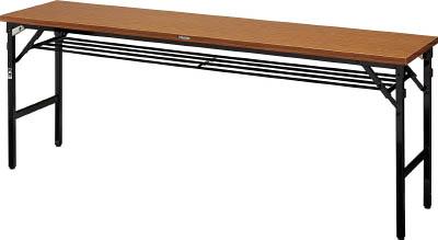 [TRUSCO]TRUSCO 折畳会議テーブル ワイドクランク 1800X600 ストッパー付 TSMW1860[オフィス住設用品 オフィス家具 会議用テーブル トラスコ中山(株)]【TC】【TN】