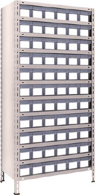 [TRUSCO]TRUSCO 軽量棚 875X450XH1800 樹脂引出透明 小X66 63X812C11[物流保管用品 物品棚 軽量棚 トラスコ中山(株)]【TC】【TN】【6ss】