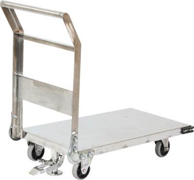 【取寄品】[TRUSCO]TRUSCO ステンレス鋼板製運搬車 固定式 1400X750 S付 SHS1LS[物流保管用品 運搬台車 ステンレス製運搬車 トラスコ中山(株)]【TC】【TN】