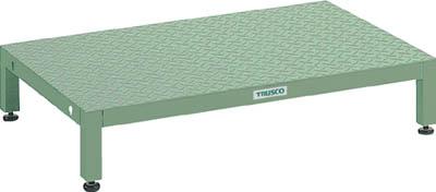 【取寄品】[TRUSCO]TRUSCO 高床用縞鋼板ステップ 1200X600XH190~220 UFSH1260S[工事用品 はしご・脚立 作業用踏台 トラスコ中山(株)]【TC】【TN】