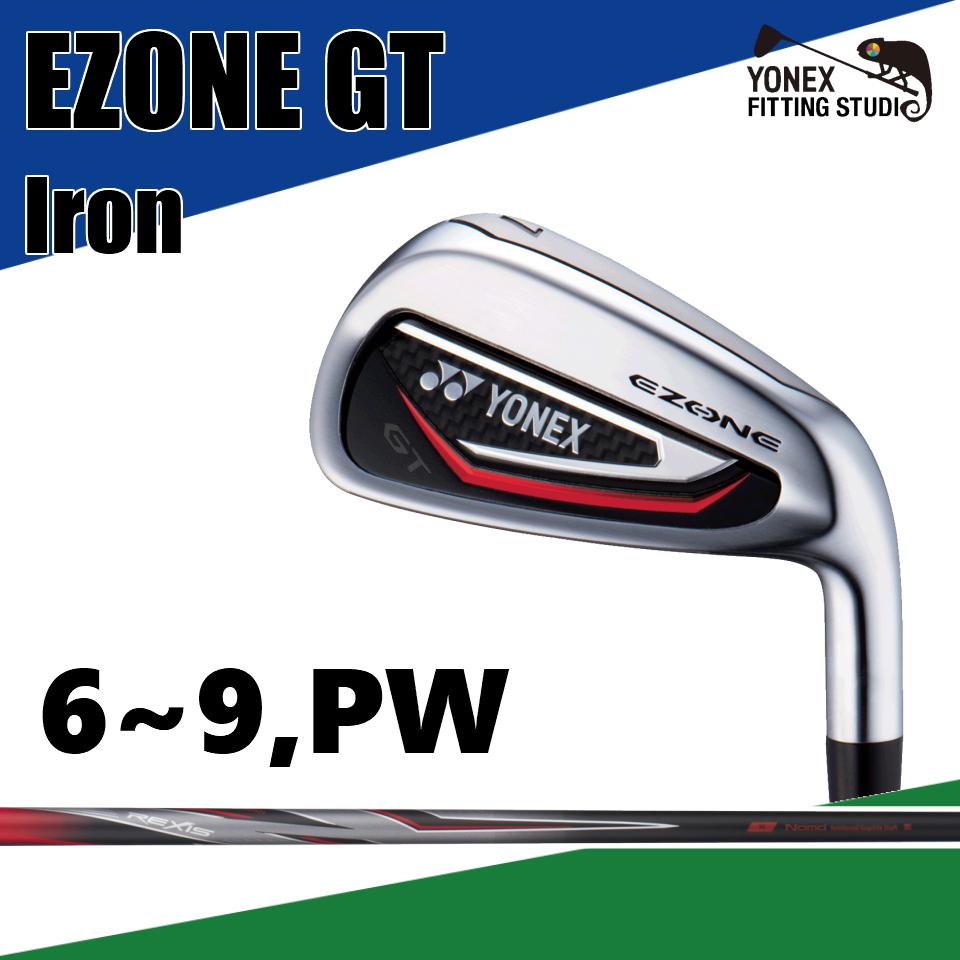 ヨネックス イーゾーン GT アイアン YONEX EZONE GT IRON REXIS for EZONE GT カーボン 2018 6~PW 5本セット