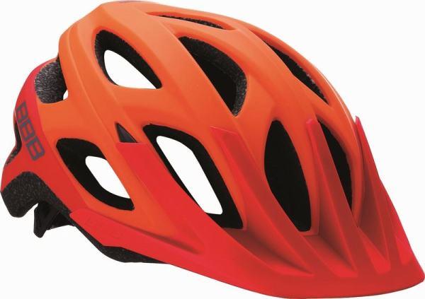 BBB ヘルメット BHE-67 バラロ 【マットオレンジ/レッド】 【送料無料】(沖縄・離島を除く)